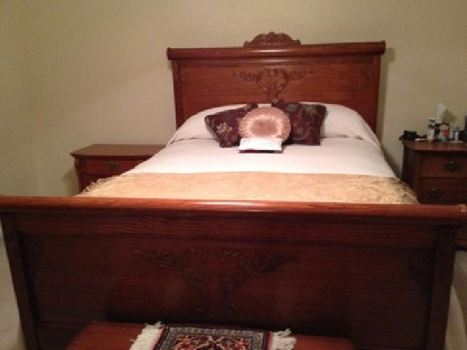 1 200 6 Pc Matching Lexington Solid Oak Bedroom Suite For Sale In Gastonia North Carolina