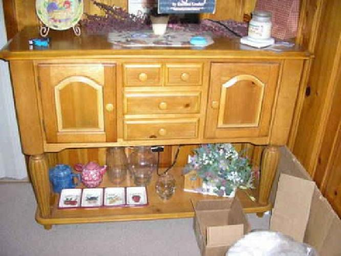 1 200 knotty pine dining room set w buffet for sale in antioch