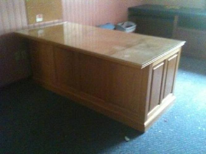 $1,200 Oak Desk and Credenza