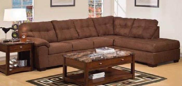 $1,299 New Simmons Sectional Espresso Microfiber for Sale in Santa