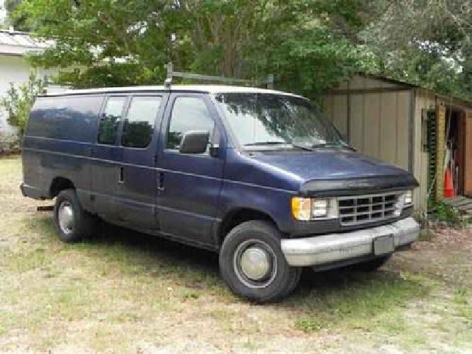 $1,300 1995 Ford E350 Cargo van, navy blue for sale in Johns