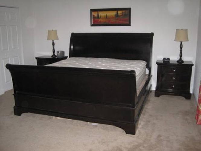 1 300 8 pc whitmore cherry sleigh king bedroom set for