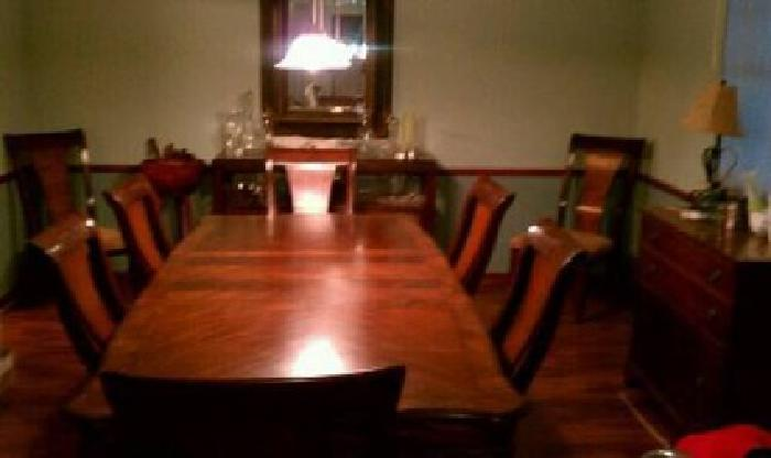 1 300 Formal Dining Room Table 8 Chairs And Buffet For Sale In West Burlington Iowa