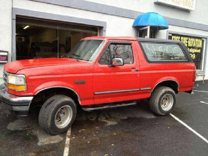1 350 1993 ford bronco 4x4 for sale in boonsboro. Black Bedroom Furniture Sets. Home Design Ideas