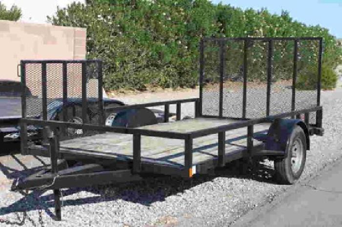1 350 6x12 Flatbed Atv Quad Trailer W Side Amp Rear Ramp