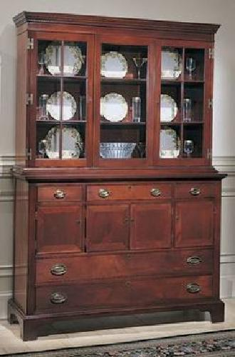 1 400 mahogany craftique breakfront china cabinet for for Chinese furniture houston tx