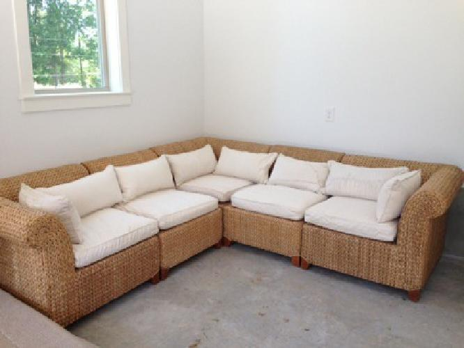 1 450 Pottery Barn Seagrass 5 Piece Sectional For Sale In Charlotte North Carolina Classified
