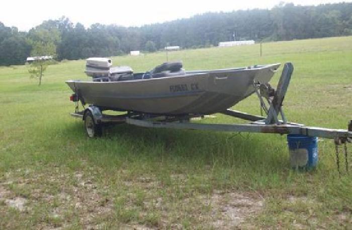 1 500 1986 monark aluminum jon boat 16 ft for sale in for Monark fishing boats