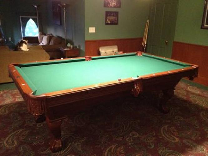 1 500 8 39 brunswick bradford series pool table green - Pool table green felt ...