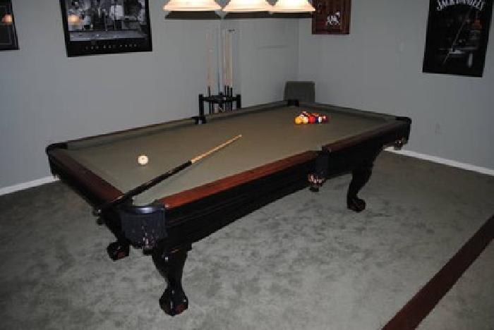 Brunswick Greenbriar Pool Table BlackChestnut Tone - Brunswick brighton pool table