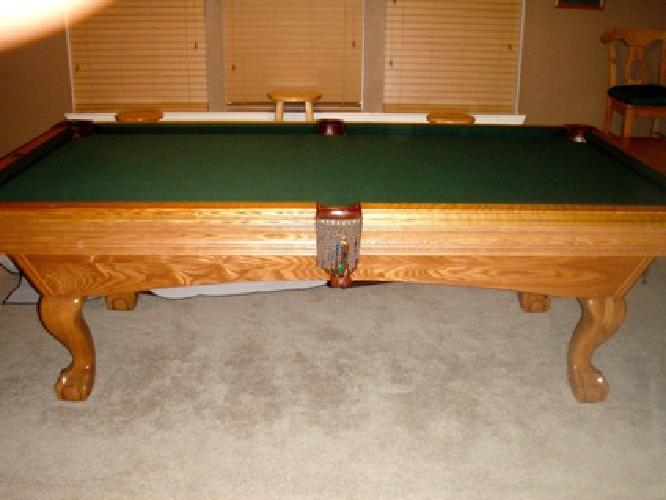 Brunswick Manchester Slate Pool Table With Simonis Cloth - Brunswick manchester pool table