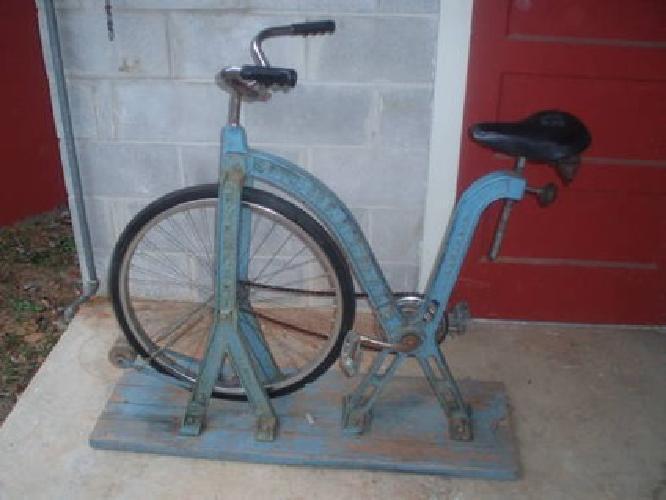 $1,500 Antique Everlast Cast Iron Boxing Gym Exercise Stationary Bike Bicycle