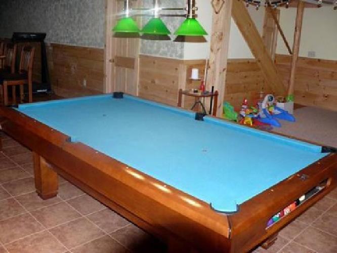 Brunswick Hawthorn Pool Table Model AE For Sale In Highland - New brunswick pool table