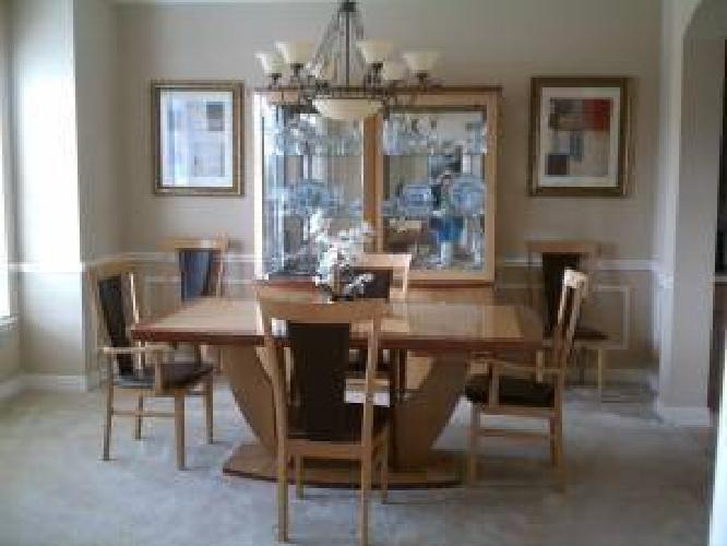 1 500 italian lacquer wood dining room set for sale in