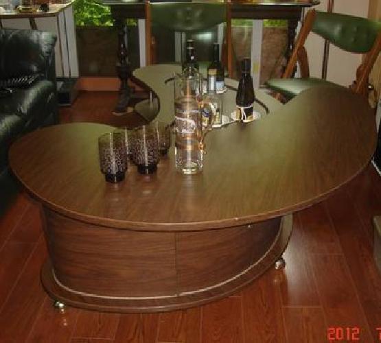 $1,500 Retro 1963 Grand Server Coffee Table Liquor Cabinet By Stock