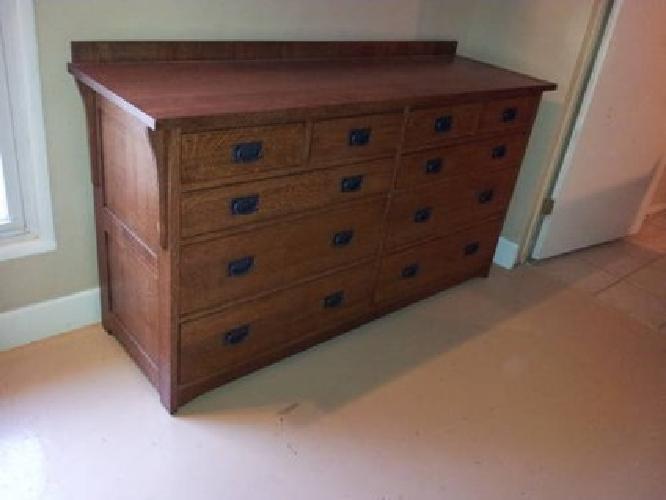 $1,600 Brand New Solid Oak Mission Furniture Style Large 10 Drawer Dresser!