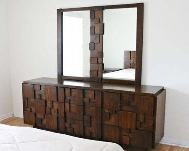 1 700 mid century modern brutalist bedroom set for sale for Mid century furniture florida