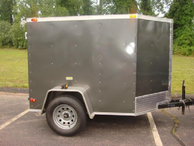 1 750 5x6 Enclosed Cargo Trailer Moving Storage For Sale