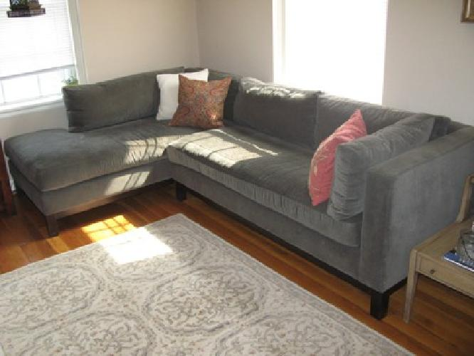 1 800 Obo Crate Barrel Sectional Sofa And Chaise