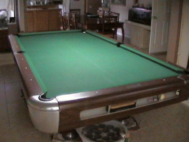 Saunier Wilhem Pool Table Ft Regulation Brunswick Designed - Brunswick 9 foot pool table