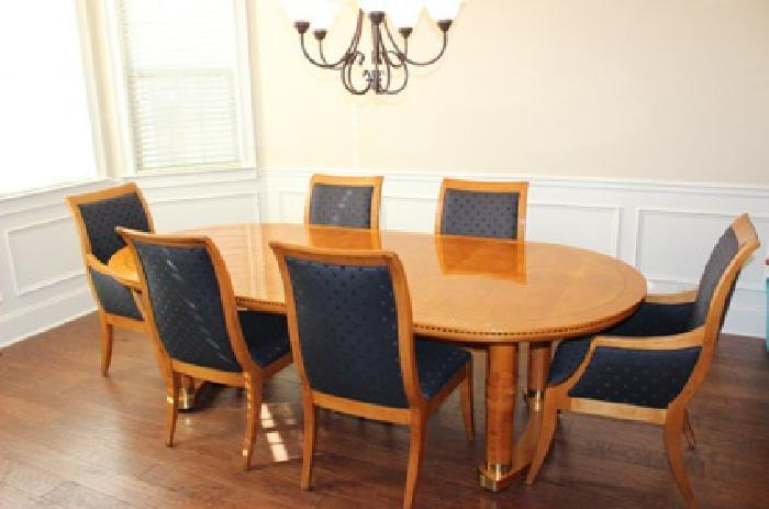 Incroyable $1,995 Beautiful Hickory White Dining Table U0026 6 Chairs