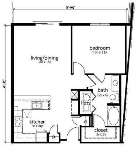 1 Bed - The Olivia on Main