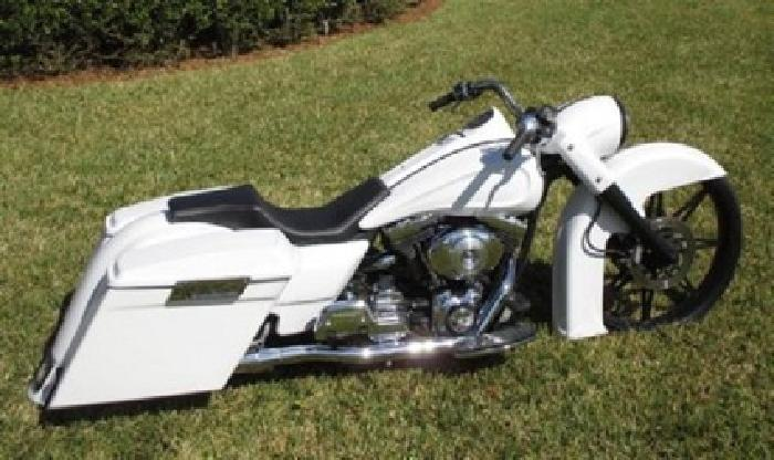 2000 Harley-Davidson Touring White Satin Paint