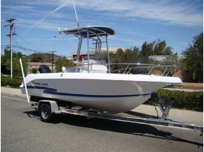 2000 pro line 19ft sport center console fishing boat for Center console sport fishing boats