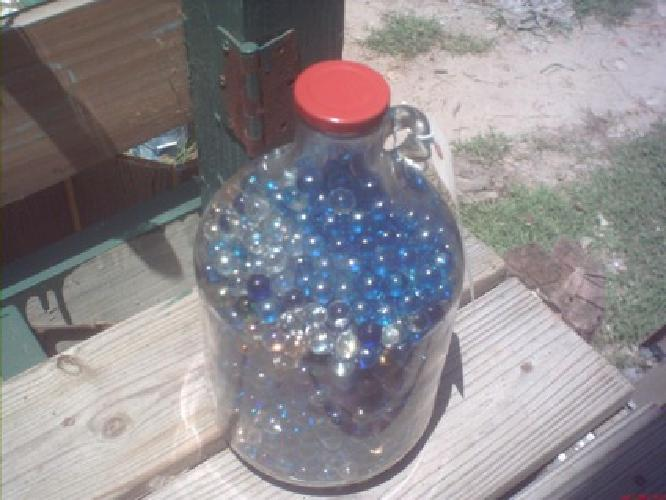$200 1500 + Marbles in Old Glass Jug