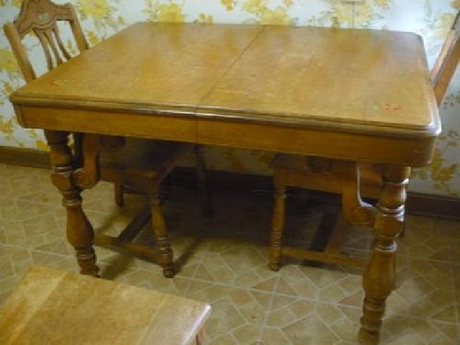 200 Cute Solid Oak Antique Kitchen Table Amp 6 Chairs For