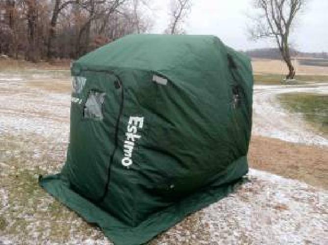 200 eskimo quick flip iii portable ice fishing shanty for Ice fishing shanty for sale