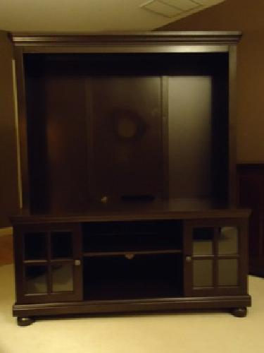 200 Espresso Brown Tv Stand With Hutch For Tvs Up To 50