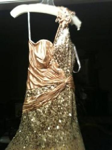 $200 Gold Tiffany Prom Dress