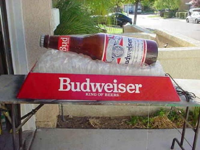 $200 Huge Budweiser Longneck Beer Bottle Hanging Pool Table Light Man Cave