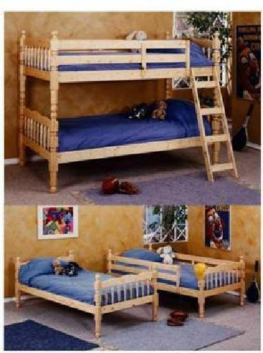 200 natural pine bunk bed that separates for sale in for Bunk beds for sale under 200