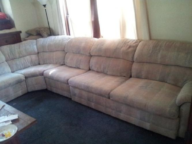 200 obo big wrap around couch 200 obo for sale in for Wrap around sofa bed