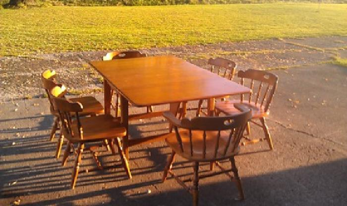 $200 OBO Cherry table and Chairs