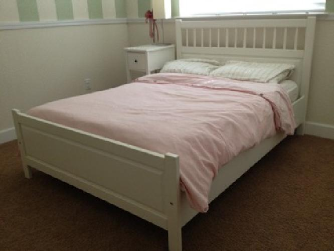 $200 OBO Ikea Hemnes Full size bed frame and mattress for sale in ...