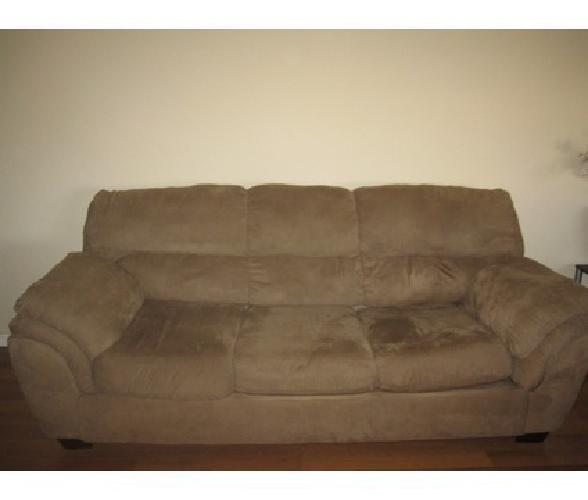 200 Obo Microfiber Couch Mocha Color For Sale In