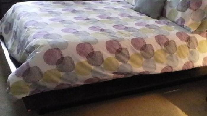 $200 OBO Platform Bed with 2 nightstands