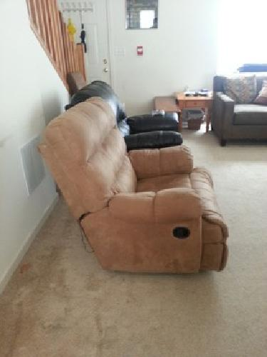 $200 OBO Recliner, Coffee Table and a Glass Display Cabinet