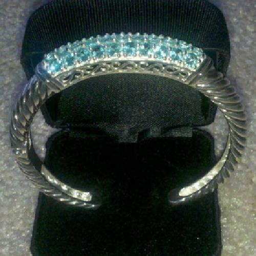 $200 sterling silver and apatite bracelet
