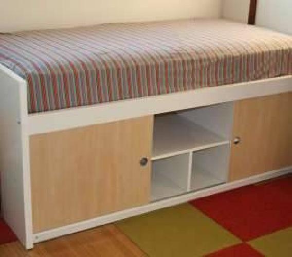 200 Used Ikea Bangsund Elevated Twin Bed With Storage