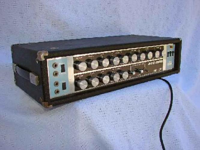 200 vintage acoustic 260 guitar amp head 125 wrms at 4 into four ohms solid state for sale in. Black Bedroom Furniture Sets. Home Design Ideas