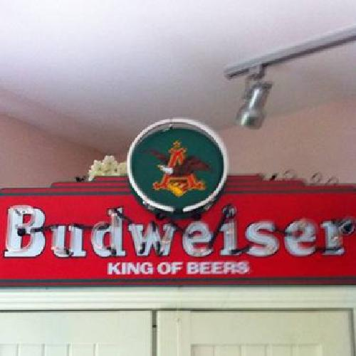 200 Vintage Budweiser King Of Beers Neon Sign For Sale