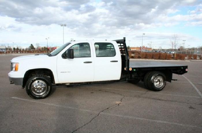 2012 cheevrolet silverado 3500hd crew cab flatbed truck for sale for sale in denver colorado. Black Bedroom Furniture Sets. Home Design Ideas