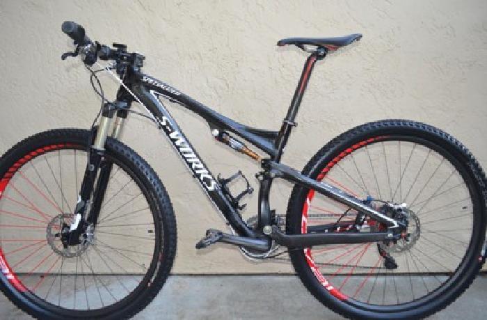 2012 Specialized S-Works Epic 29er Carbon (Medium) Mountain Bike Full Suspension