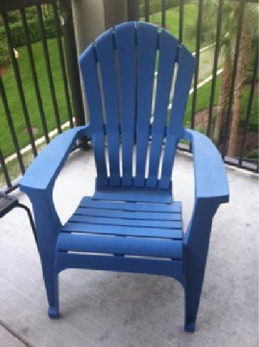 20 2 Blue Plastic Adirondack Chairs For Sale In
