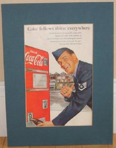 $20 2 Framed Vintage Coca Cola Ads
