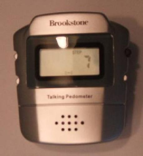 $20 Talking Pedometer from Brookstone
